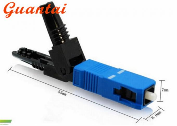 Nice Stability Fiber Optic Cable Connectors Clamshell Design Communication Equipment