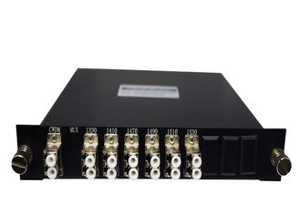 China SC FC LC APC UPC PC Black Fiber Optic CWDM 6CH CWDM Mux / Demux Module supplier