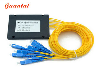 China 1X8 ABS Coupler Fiber Optic Cable Splitter Customized Fiber Length Stable Working supplier