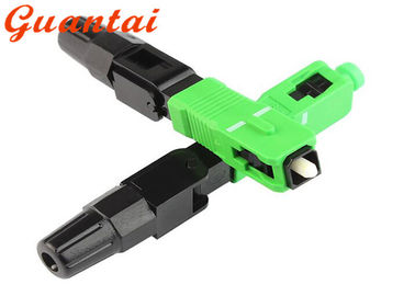 Free Sample FTTH Fiber Optic Fast Connector SC / APC >50N Tensile Strength