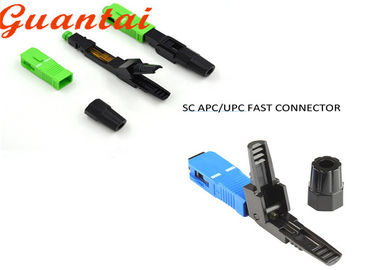 SC UPC Fiber Optic Fast Connector Blue And Green Color Easy Fiber Termination