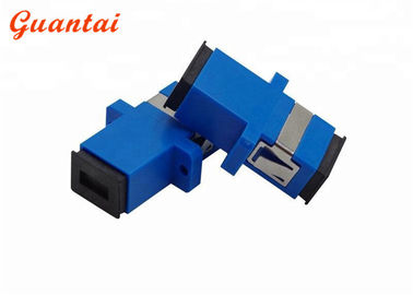 SC FC ST LC Fiber Optic Adapters Blue Color Low Insertional Loss Design