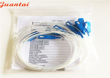 China Mini Tube TV Fiber Optic Cable Splitter Low Inseration Loss G657A Cable Mode factory