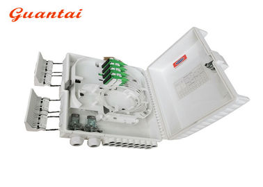 FTTH 16 Ports Fiber Optic Termination Box With Steel Tube Type PLC Splitter
